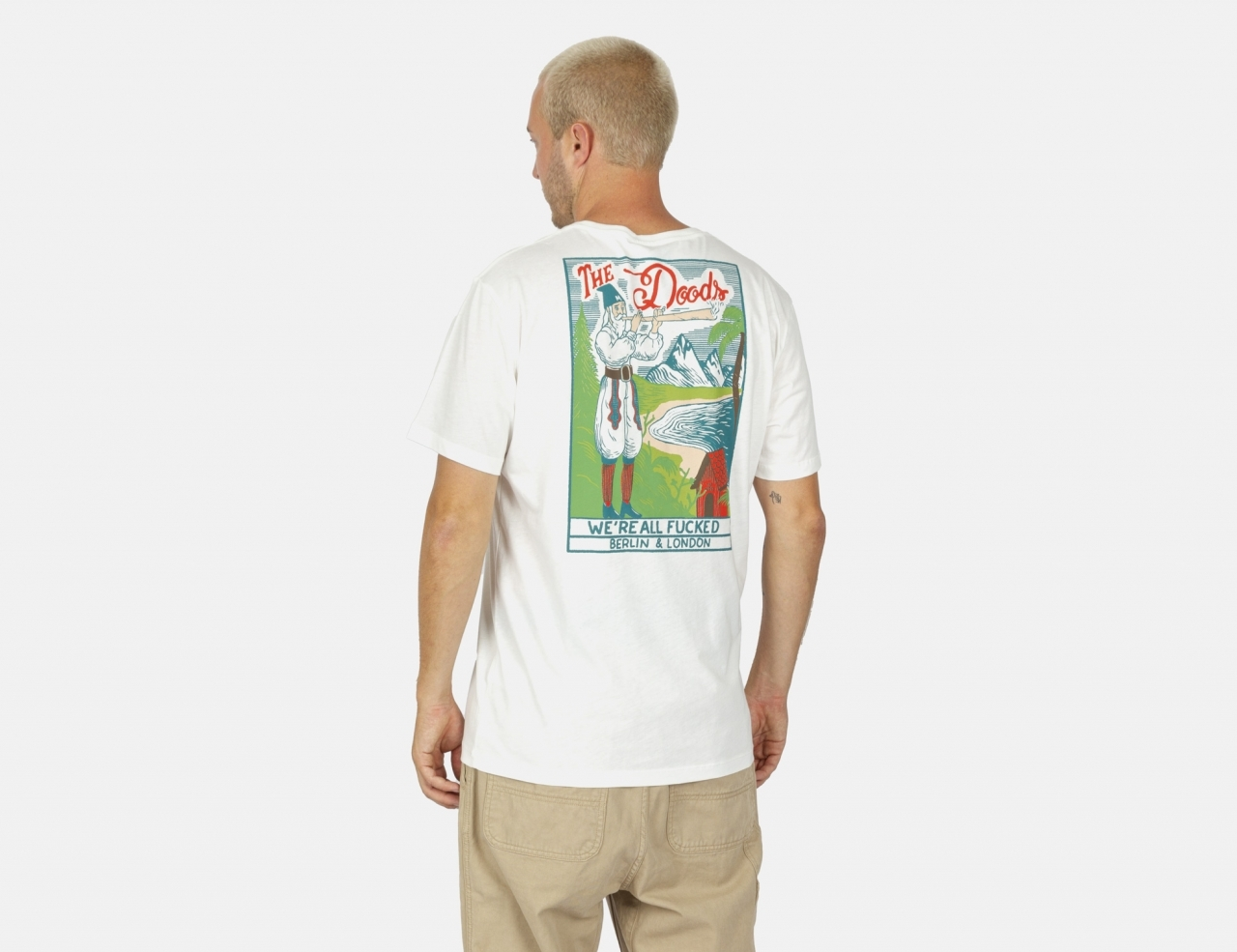 The Dudes Fucked Again T-Shirt - Off White
