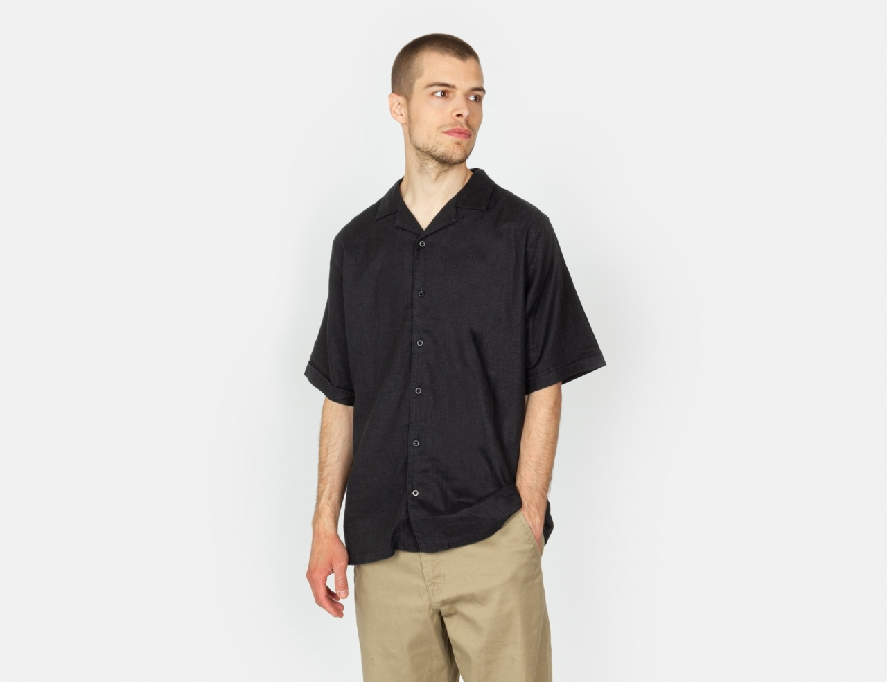 Afends Daily S/S Shirt - Black