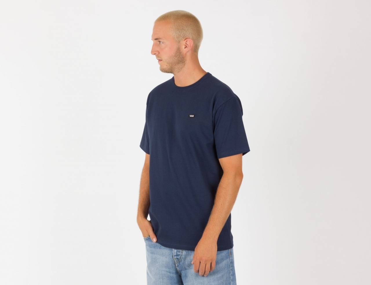 VANS Off The Wall Classic T-Shirt - Dress Blues