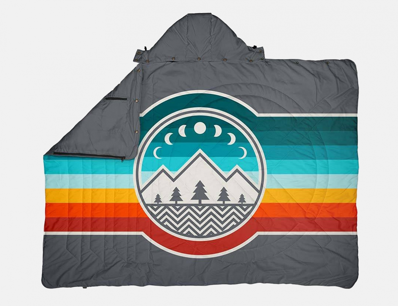 Voited Travel Pillow Blanket - Camp Vibes