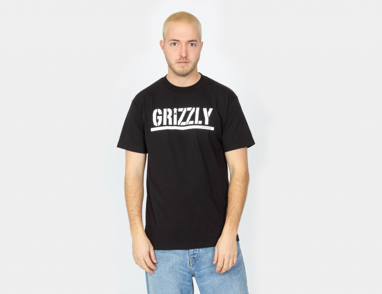 Grizzly Stamp Shirt - Black / White