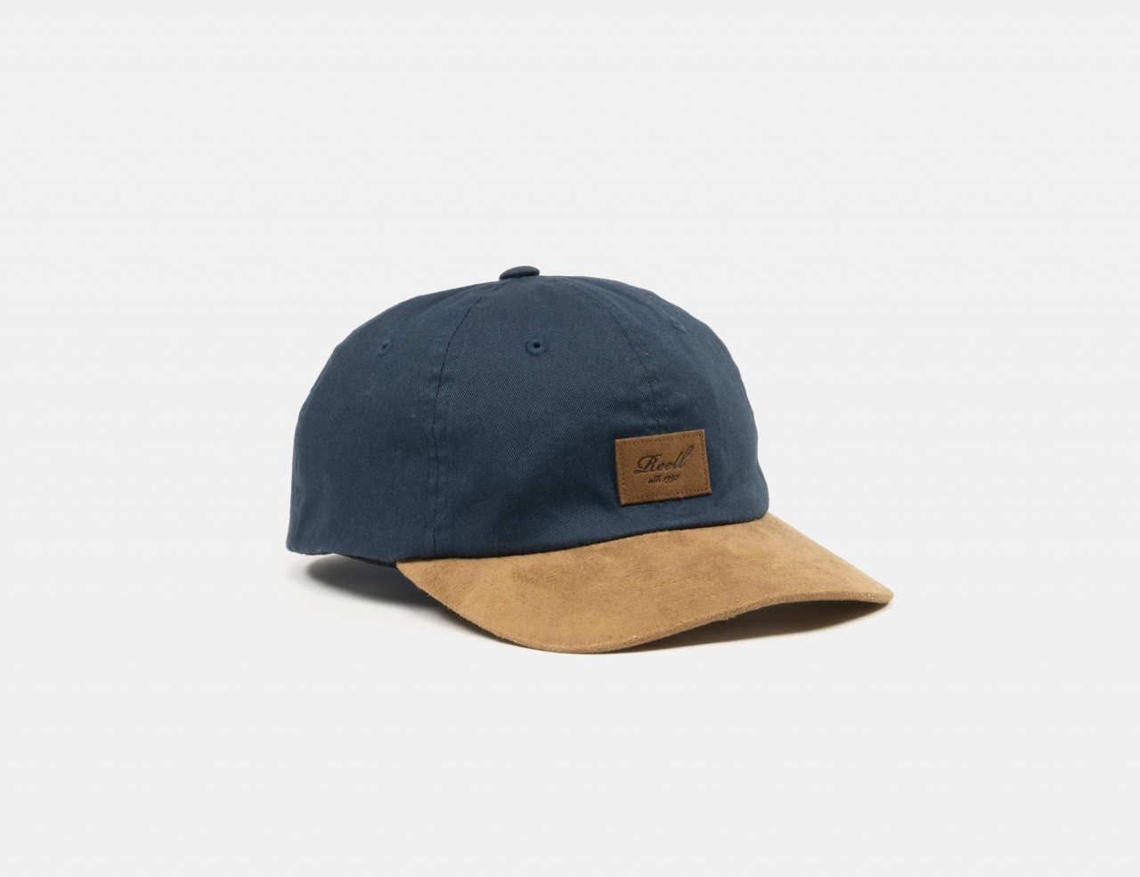 Reell Jeans Curved Suede Dad Cap - Navy