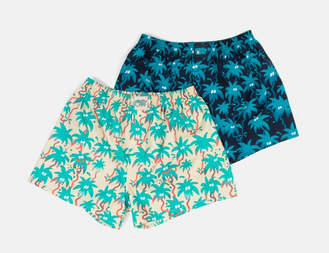 Lousy Livin 2 Pack Palm Boxershort - Navy & Macademia