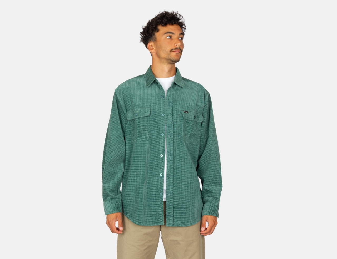 Brixton Bowery Relaxed Flannel Shirt - Silver Pine