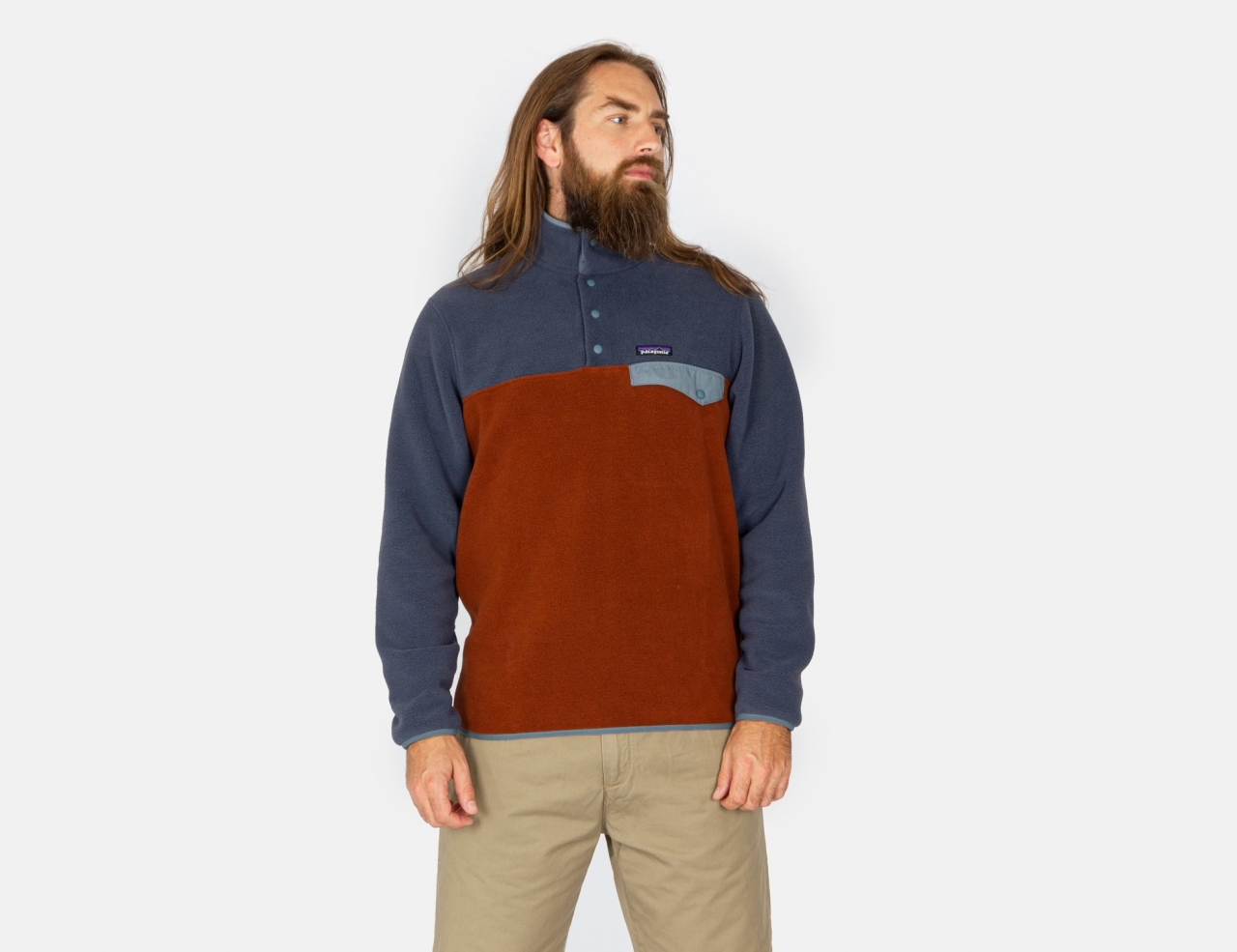 Patagonia Lightweight Synch Snap-T Fleece Pullover - Fox Red
