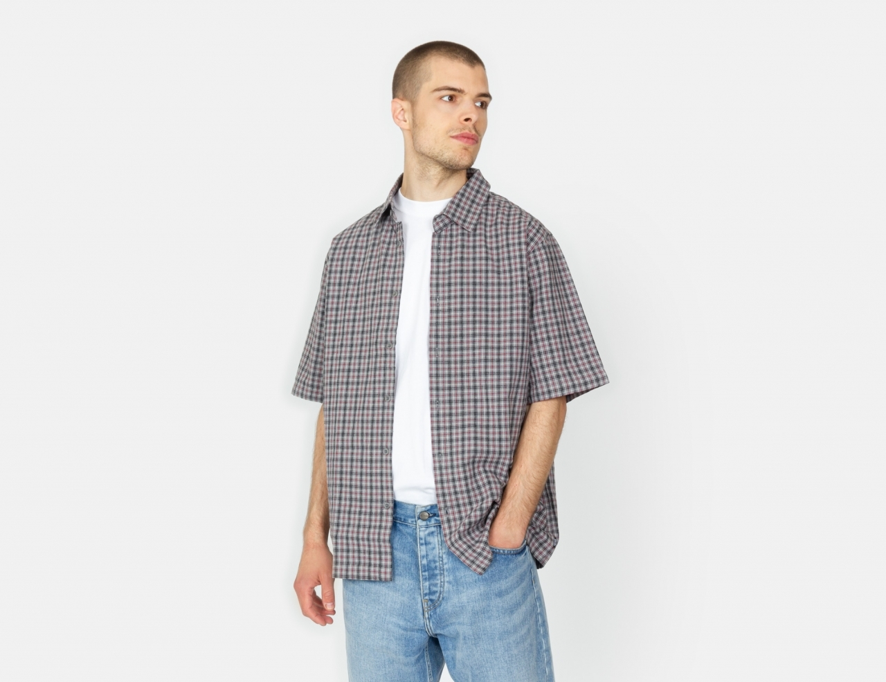 Afends Business As Usual S/S Shirt - Drizzle