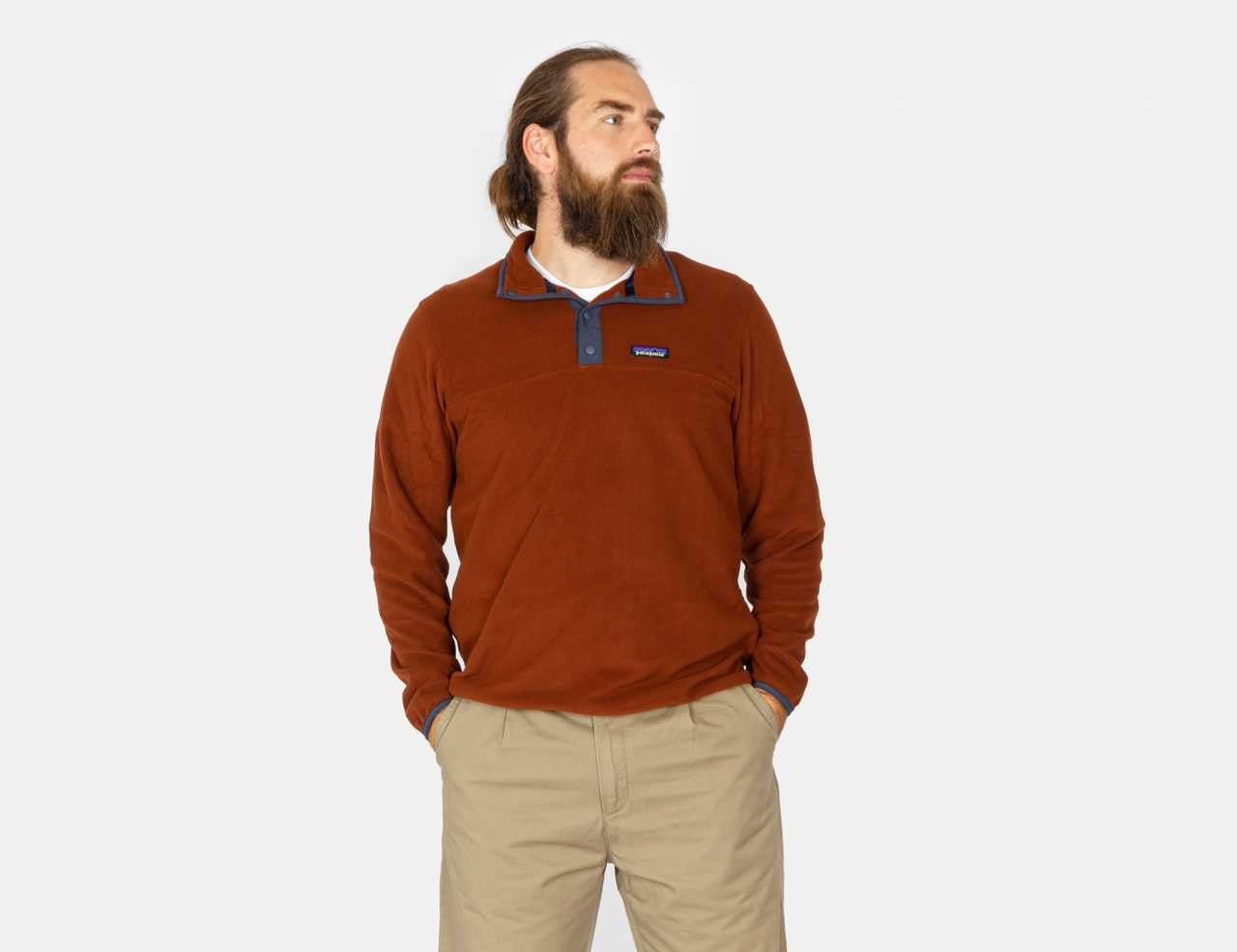 Patagonia Micro D Snap-T Fleece Pullover - Fox Red