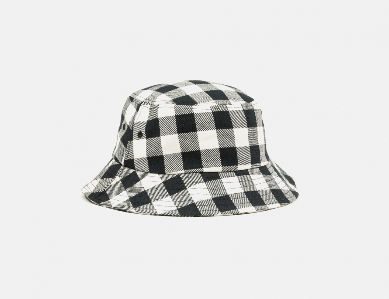 Afends Reality Gingham Bucket Hat - Black / White