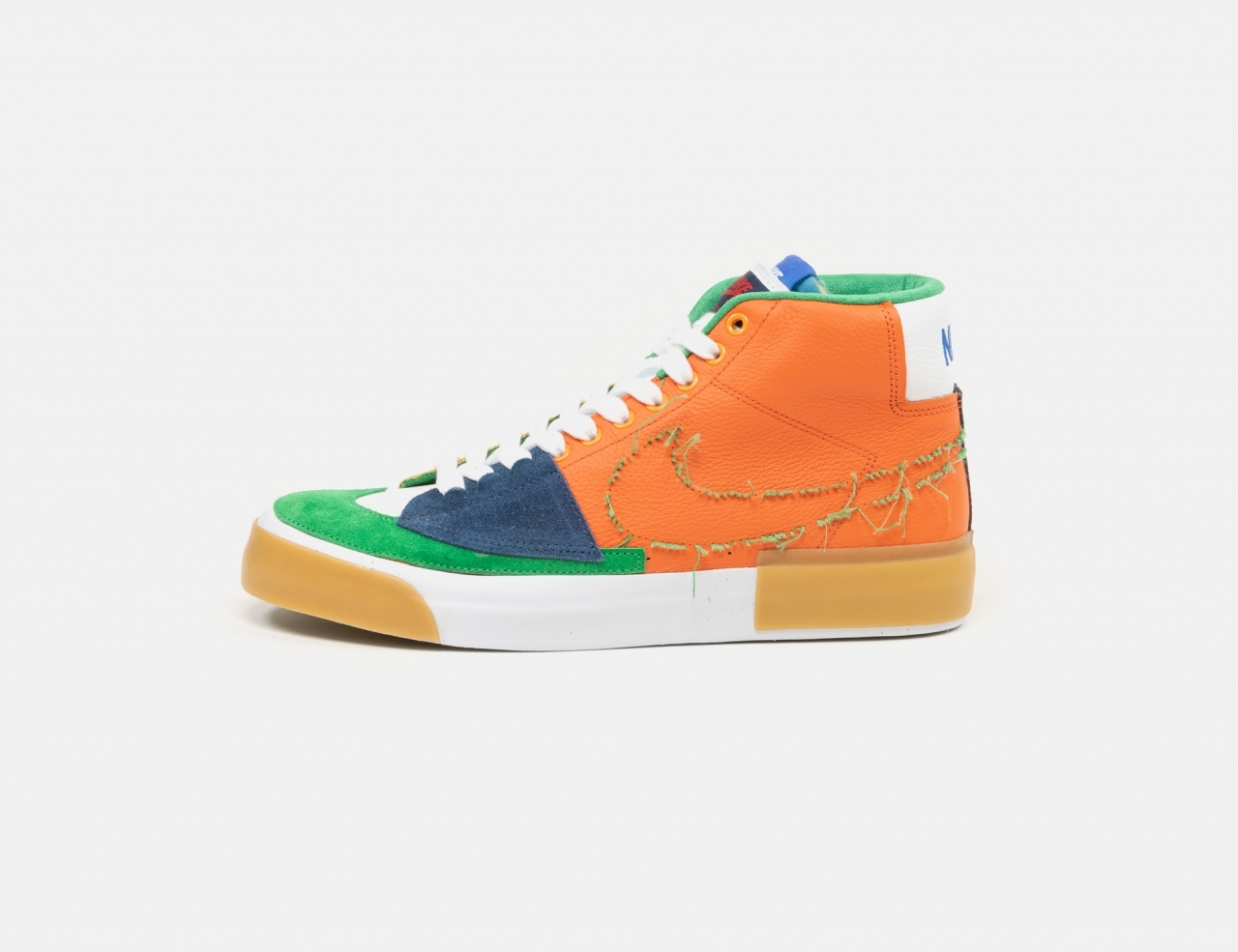 Nike SB Zoom Blazer Mid Edge Sneaker - Safety Orange / Lucky Green