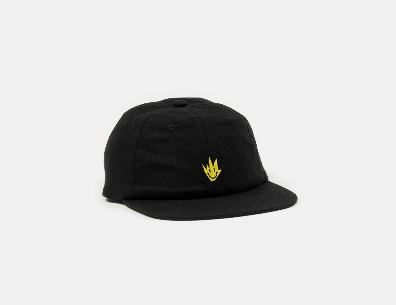 Afends Tito Flame Snapback Cap - Black