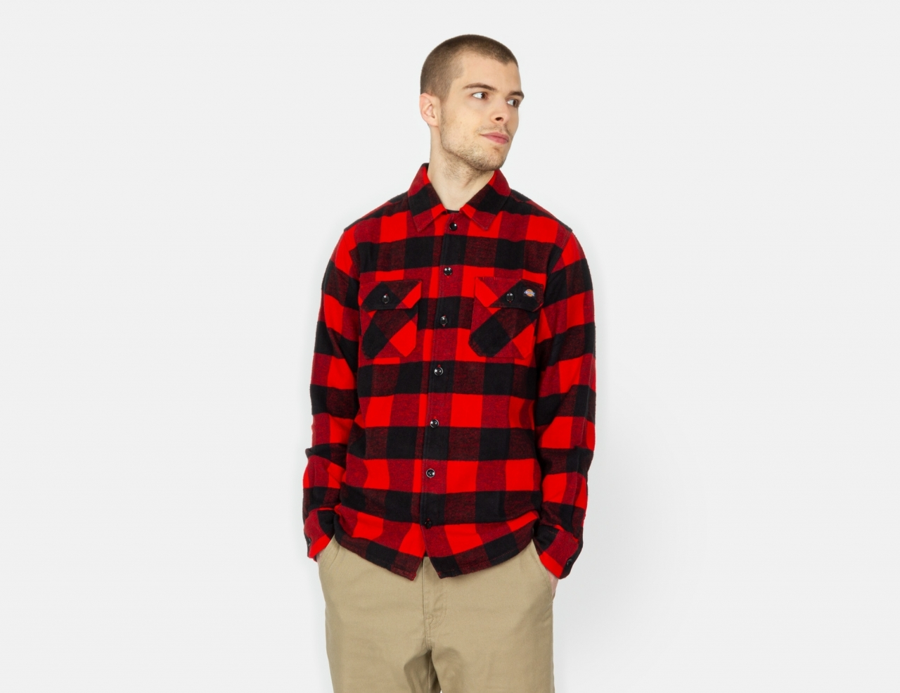 Dickies New Sacramento Flannel Shirt - Red