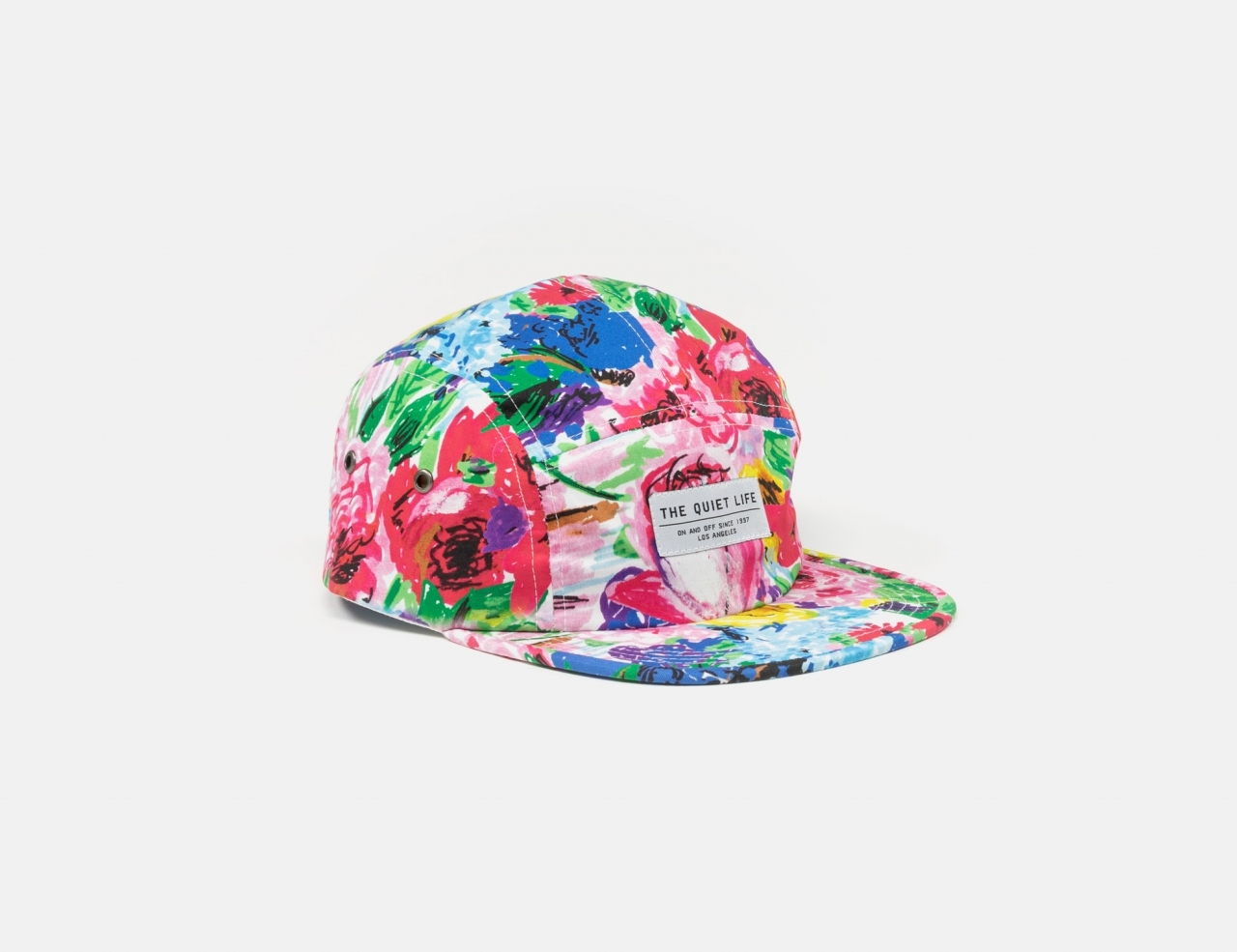 The Quiet Life Take A Break 5 Panel Camper Cap - floral