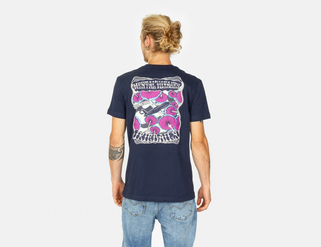 Iriedaily Mental Voyages T-Shirt - Navy