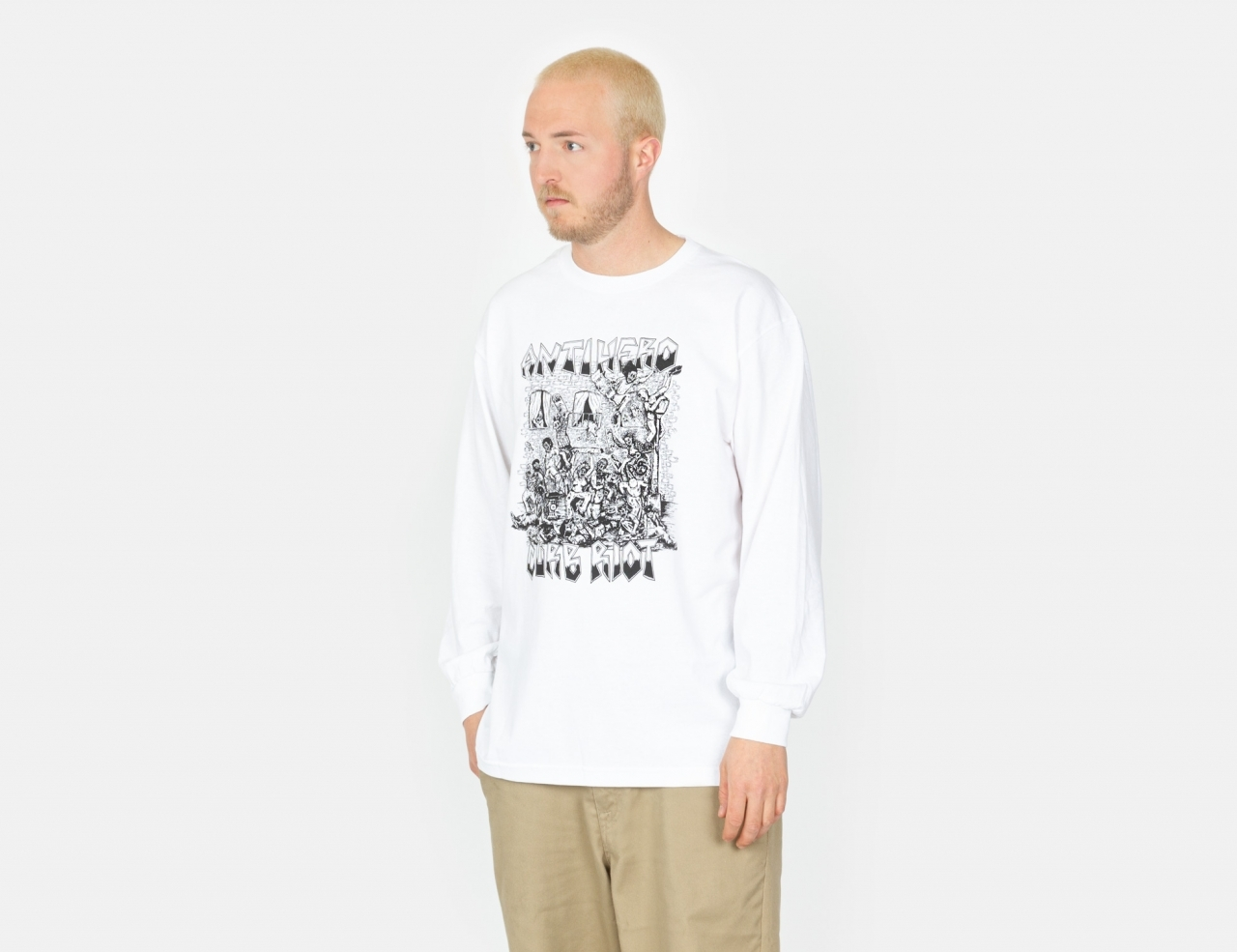 Anti Hero Curb Riot Longsleeve - White