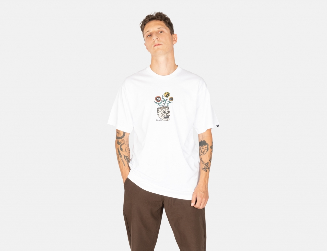 VANS Sprouting T-Shirt - White