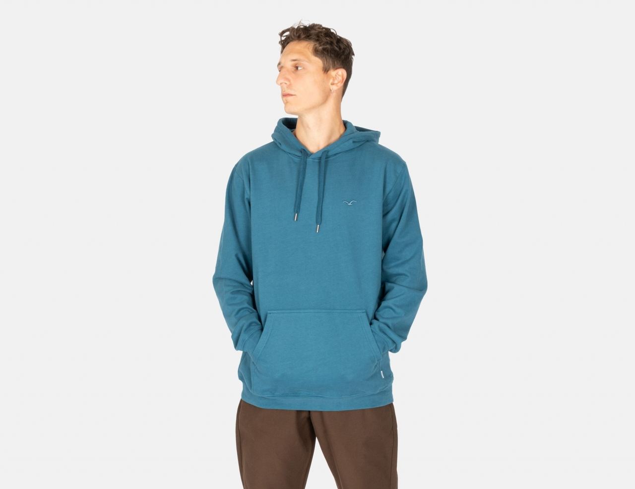 Cleptomanicx Ligull Hoodie - Blue Coral