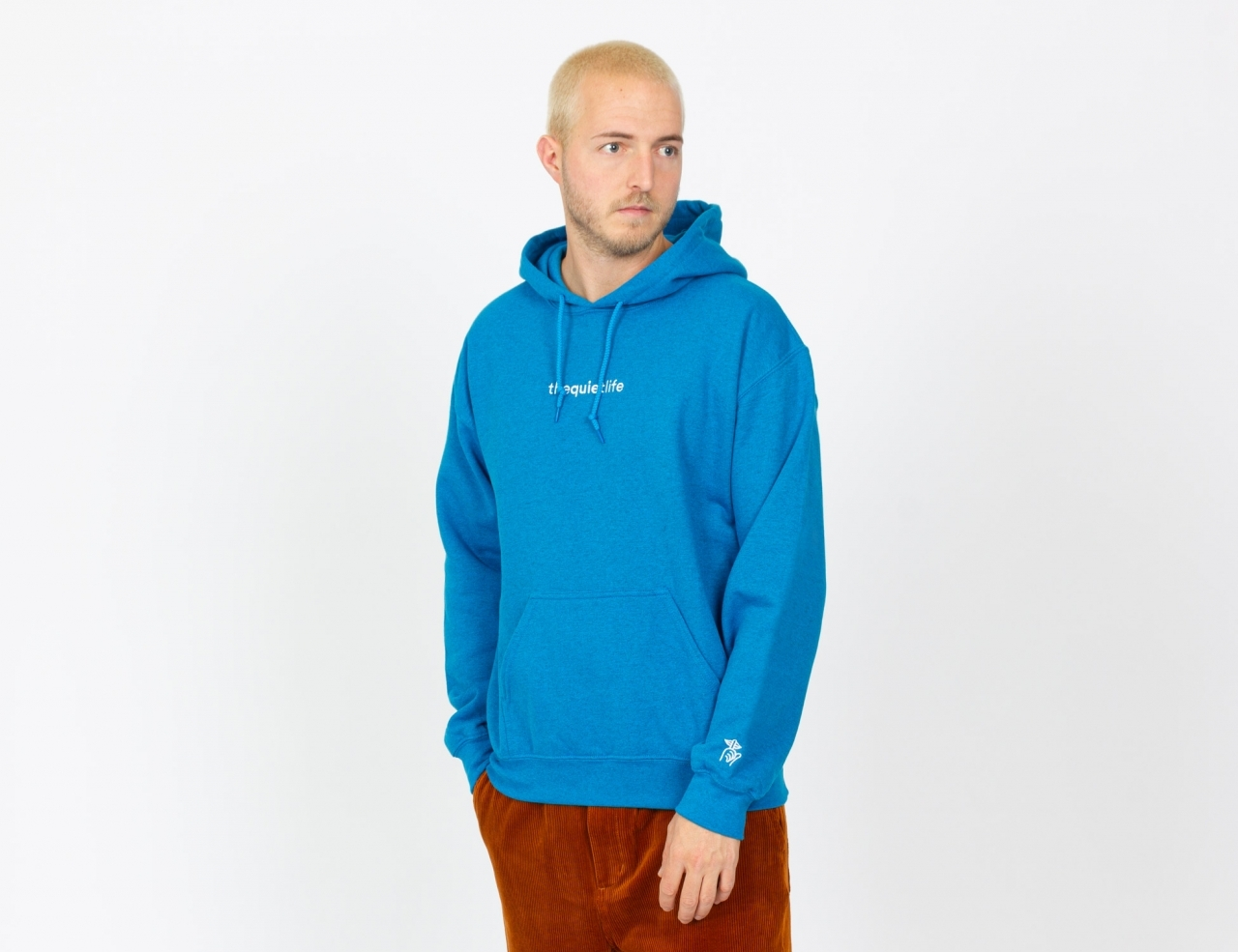 The Quiet Life Origin Embroidered Hoodie - Blue
