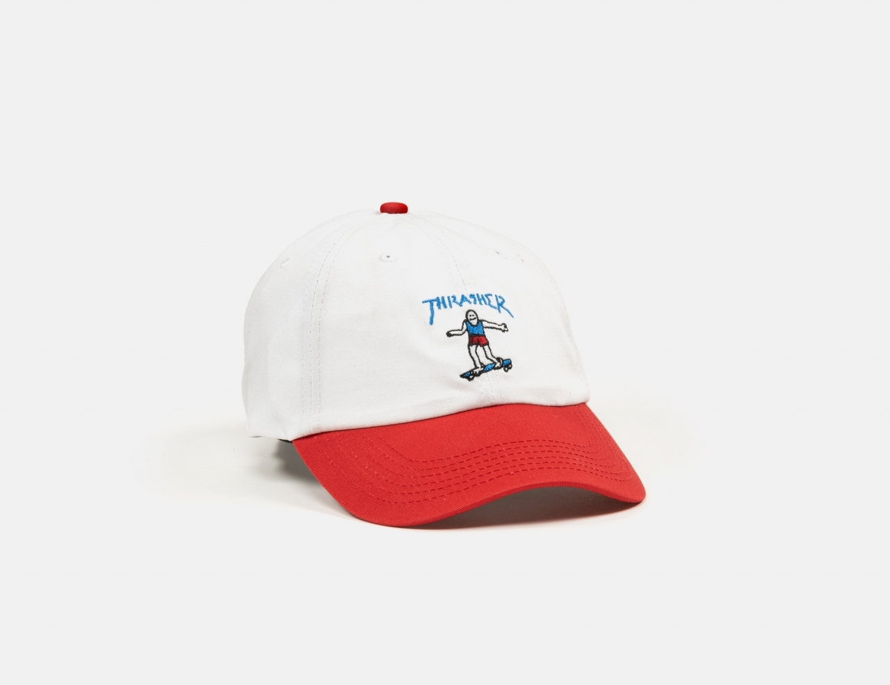 Thrasher Gonz Old Time Cap - White / Red