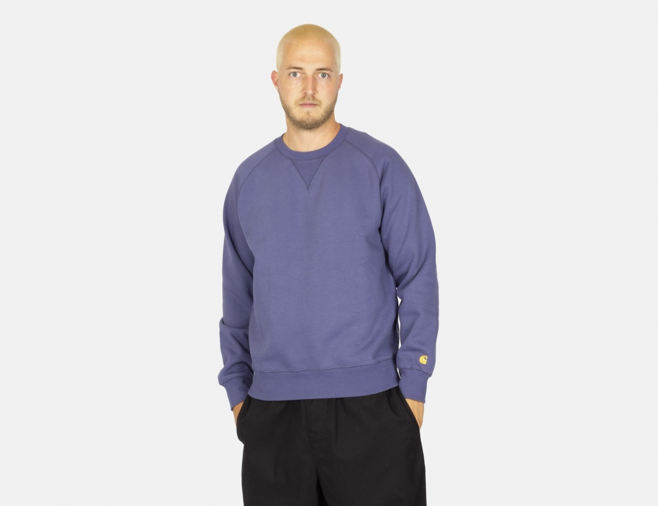 Carhartt WIP Chase Crew Neck - Cold Viola / Gold