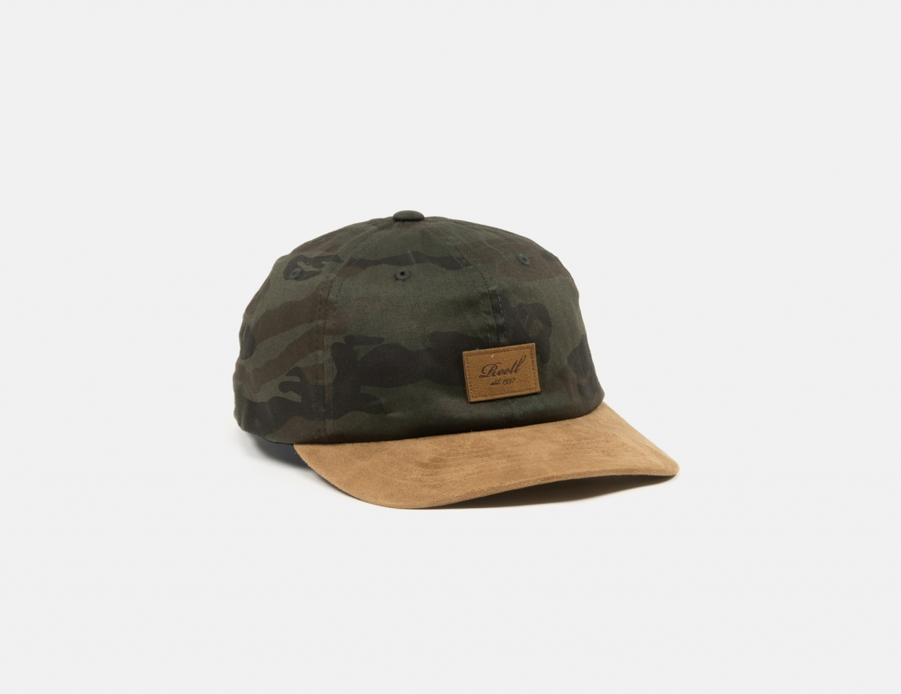 Reell Jeans Curved Suede Dad Cap - Olive