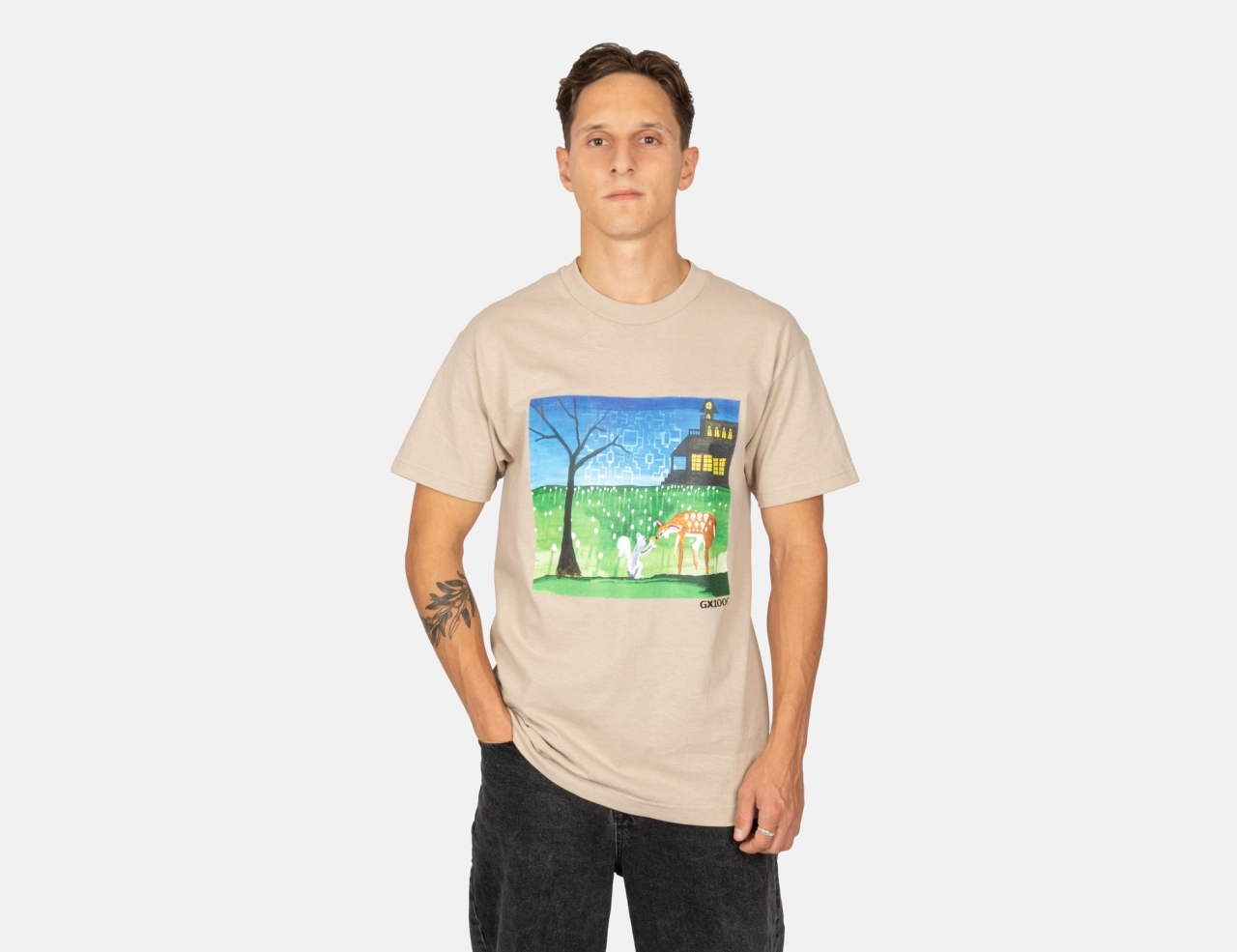 GX1000 Sharing With Friends T-Shirt - Sand