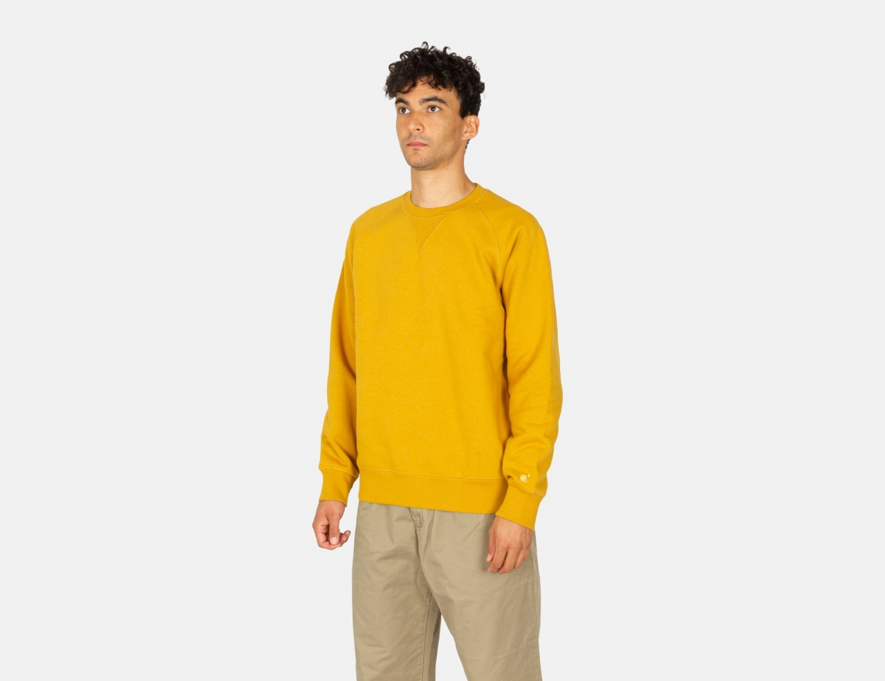 Carhartt WIP Chase Crew Neck - Helios / Gold