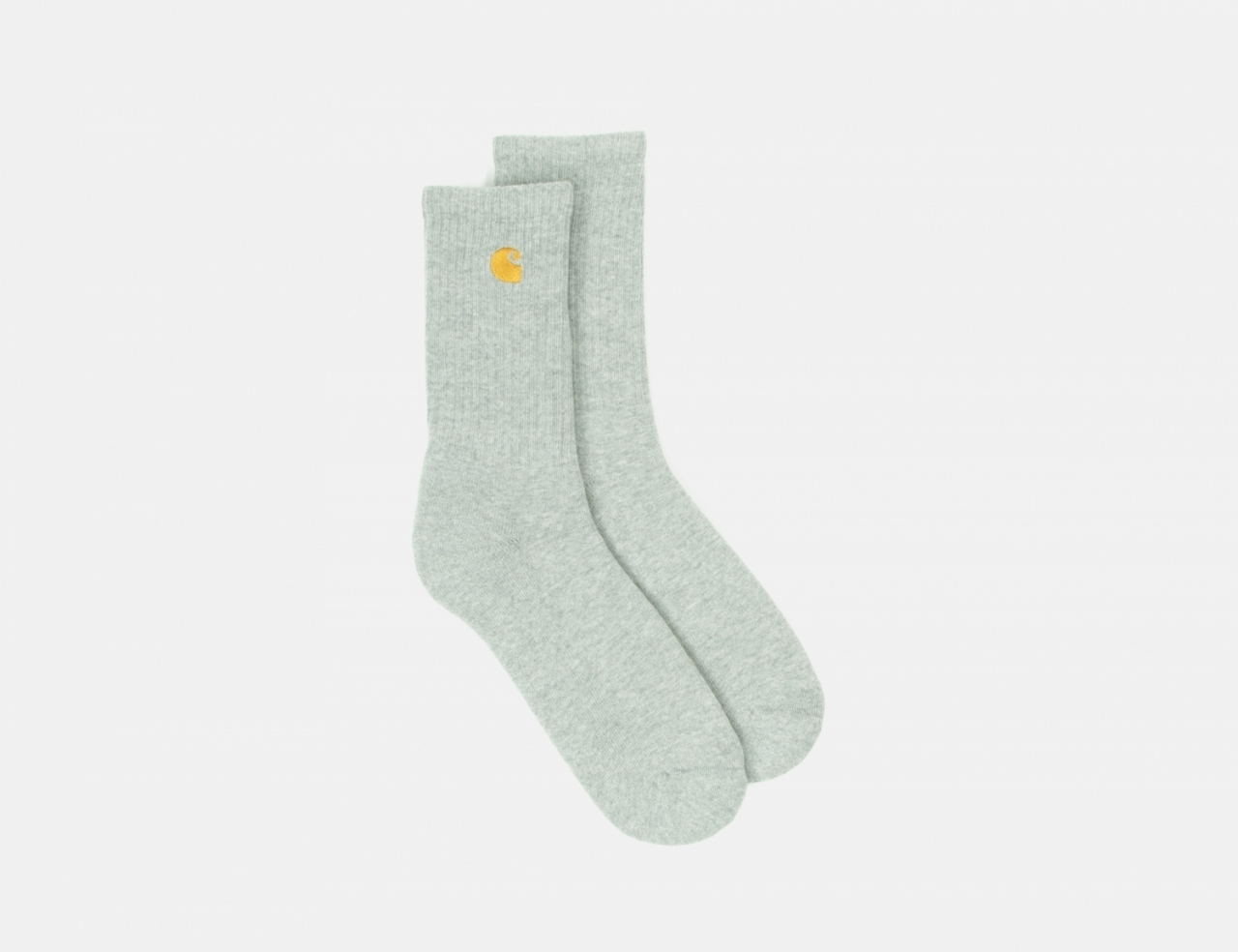Carhartt WIP Chase Socken - Grey Heather / Gold