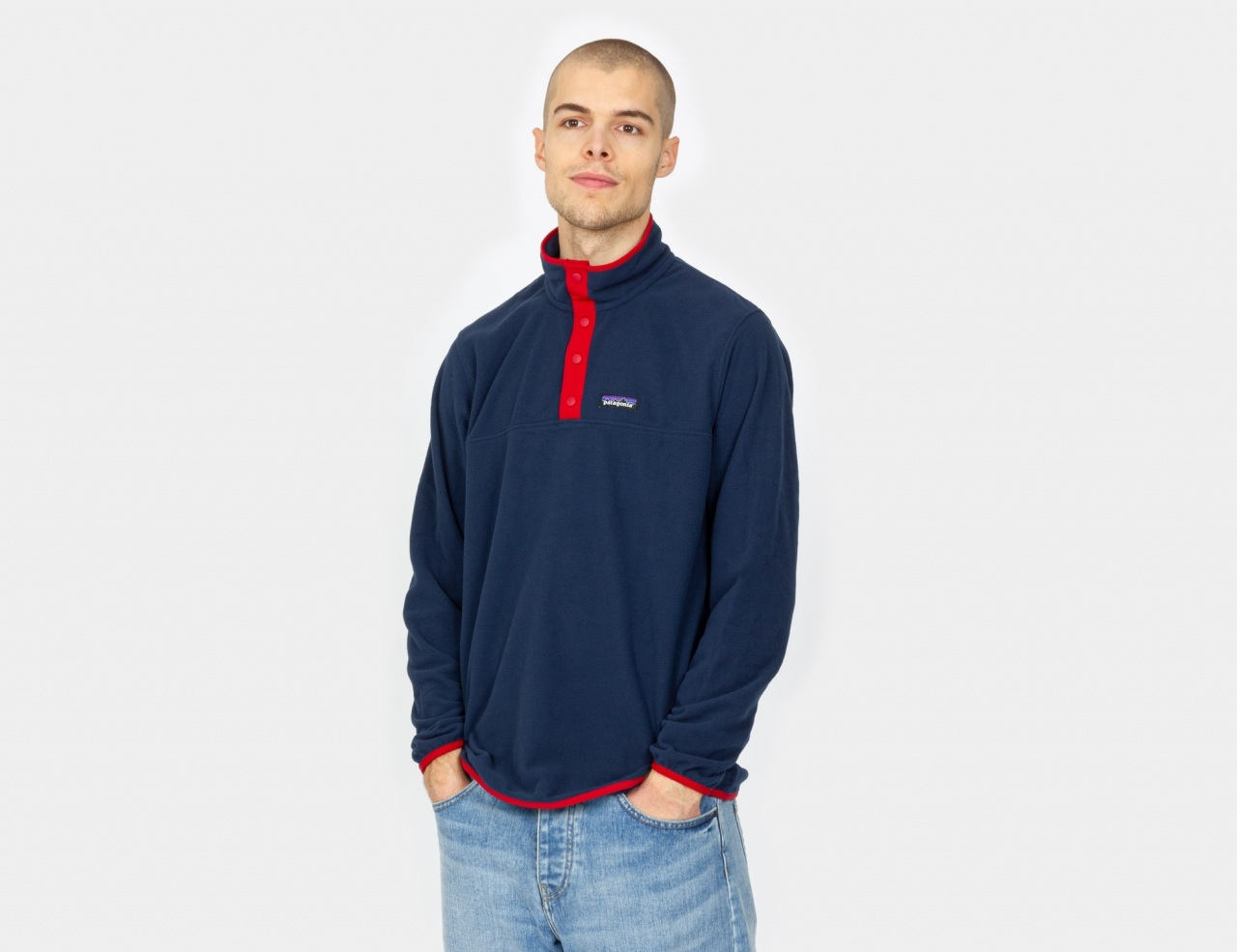 Patagonia Micro D Snap-T Fleece - New Navy / Classic Red