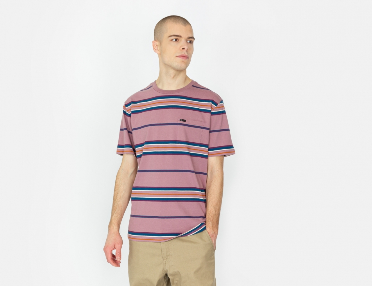Brixton Hilt Knit T-Shirt - Washed Concord