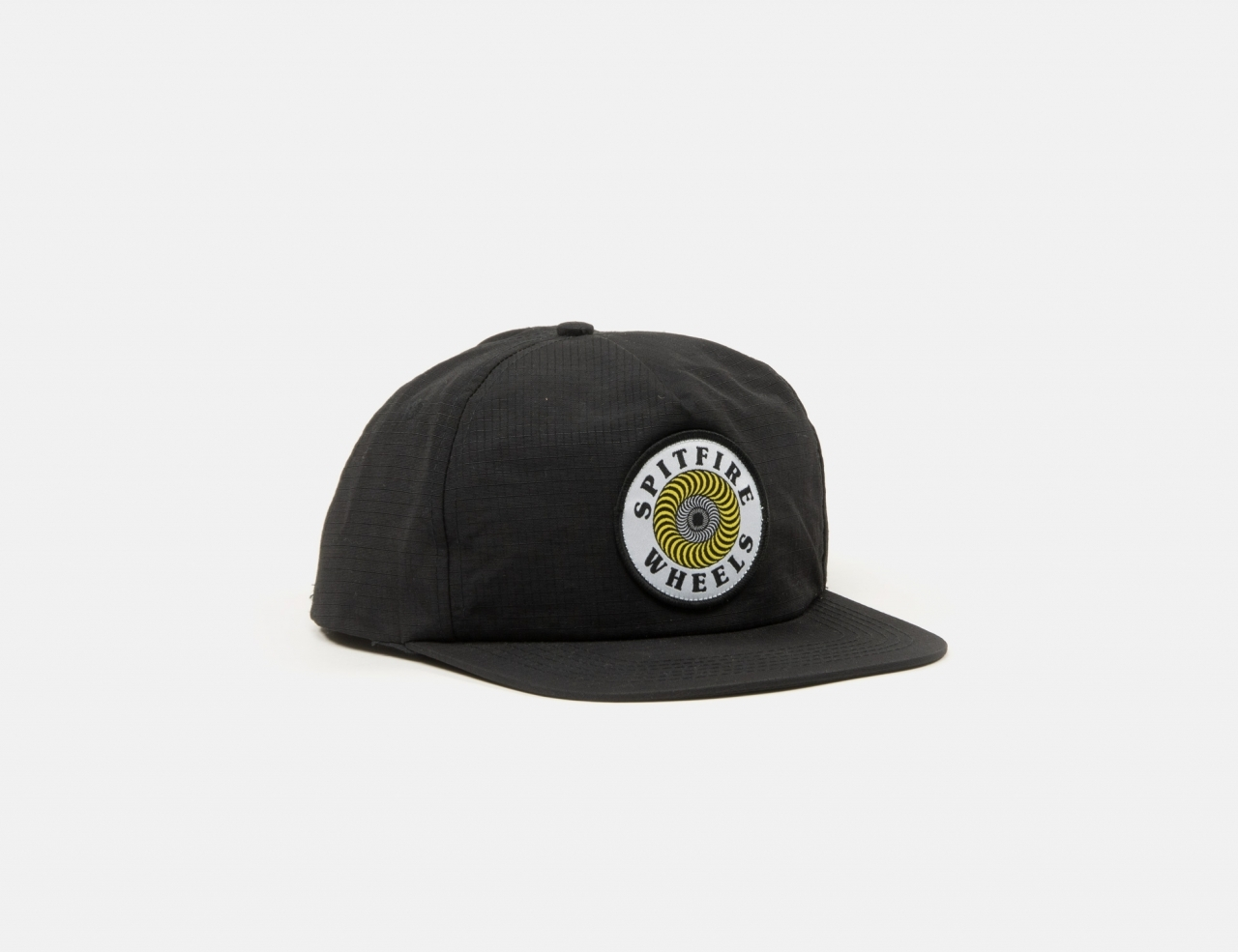 Spitfire OG Swirl Patch Snapback Cap-blackyellow