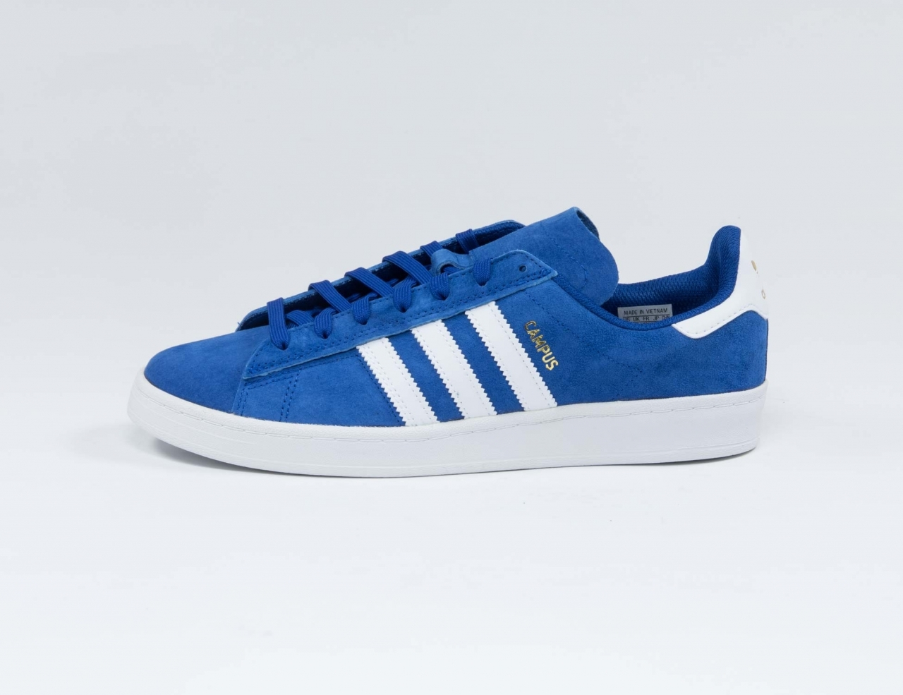 Adidas Campus ADV Sneaker - Royal Blue / White / Gold Metallic