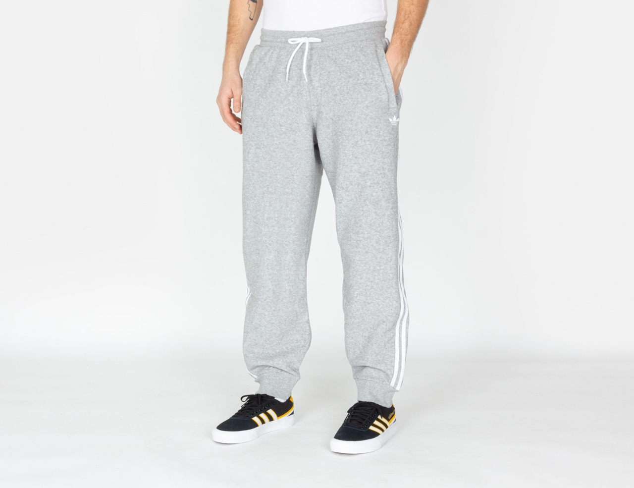 Adidas Boucle Track Pant - Medium Grey / White