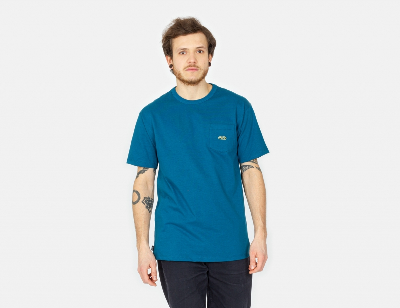 VANS Color Multiplier Pkt Off The Wall T-Shirt - Moroccan Blue