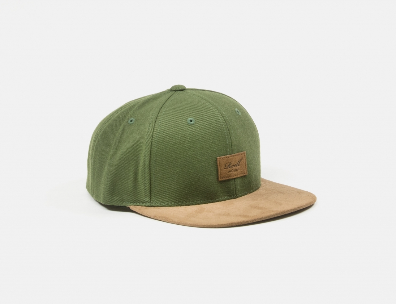 Reell Jeans Suede Snapback Cap - Army Olive