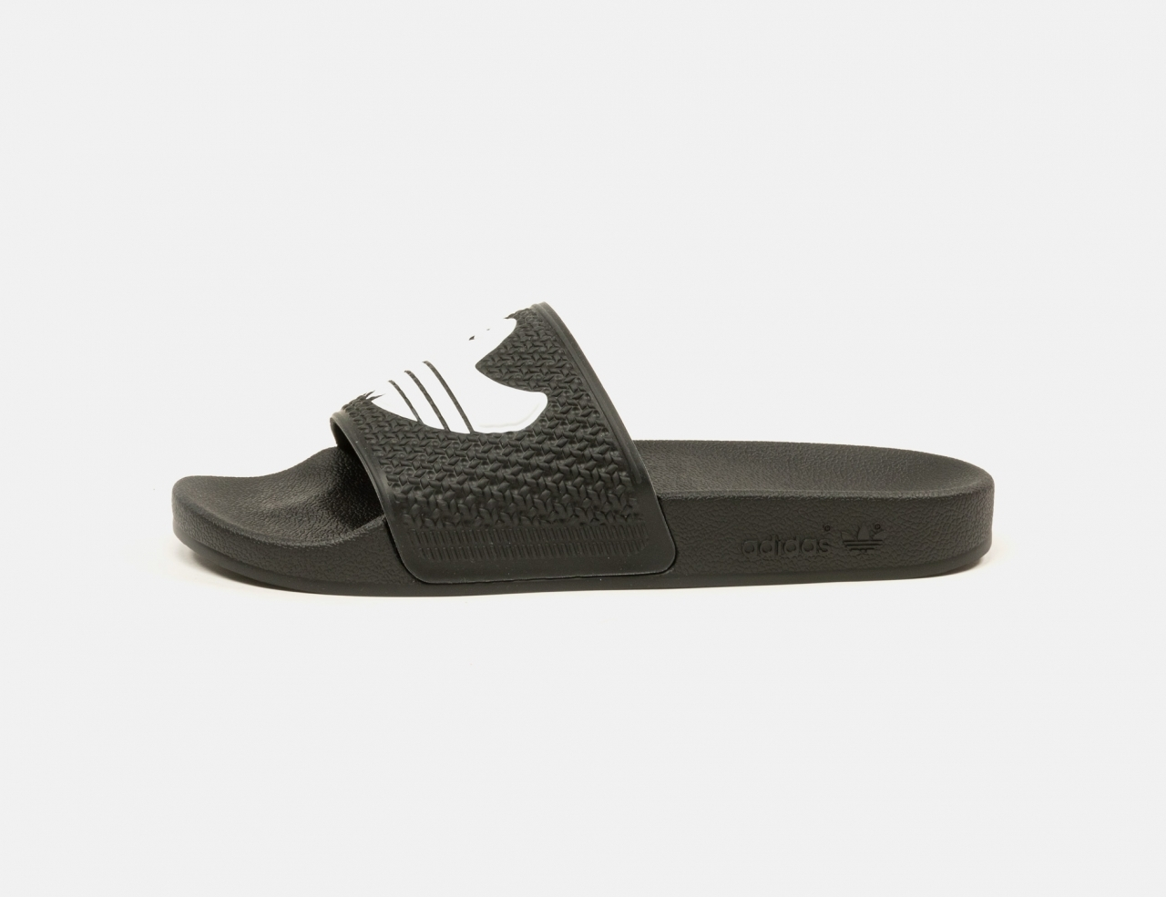 Adidas Shmoofoil Slides - Black / White