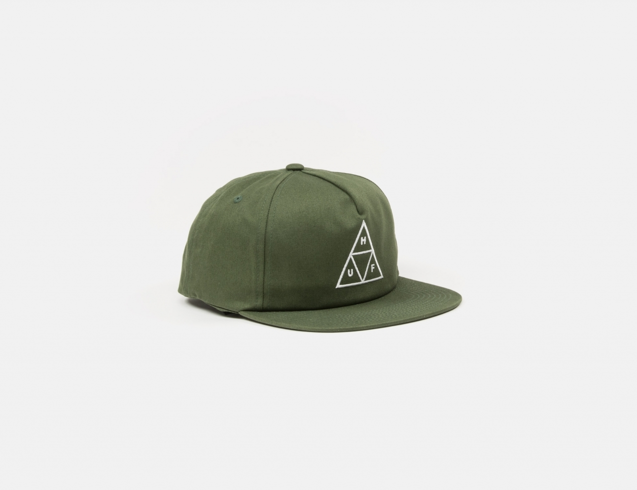 HUF Essentials Unstructured TT Snapback Cap - Military Green