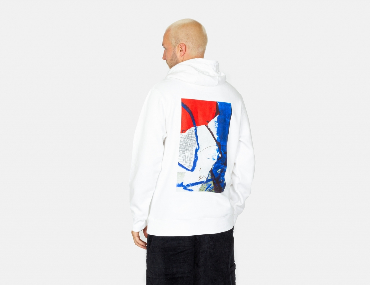 Poetic Collective Painting Hoodie - WHite