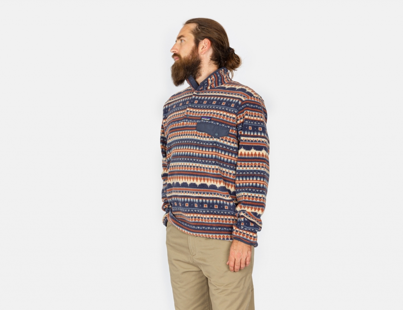 Patagonia Lightweight Synch Snap-T Fleece Pullover - Cottage Isle: El Cap Khaki
