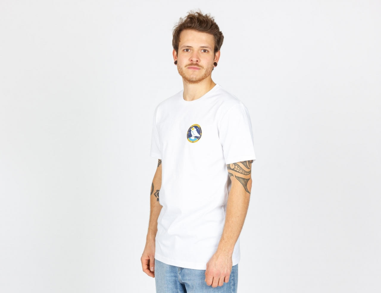 Cleptomanicx Space Gull Shirt - White