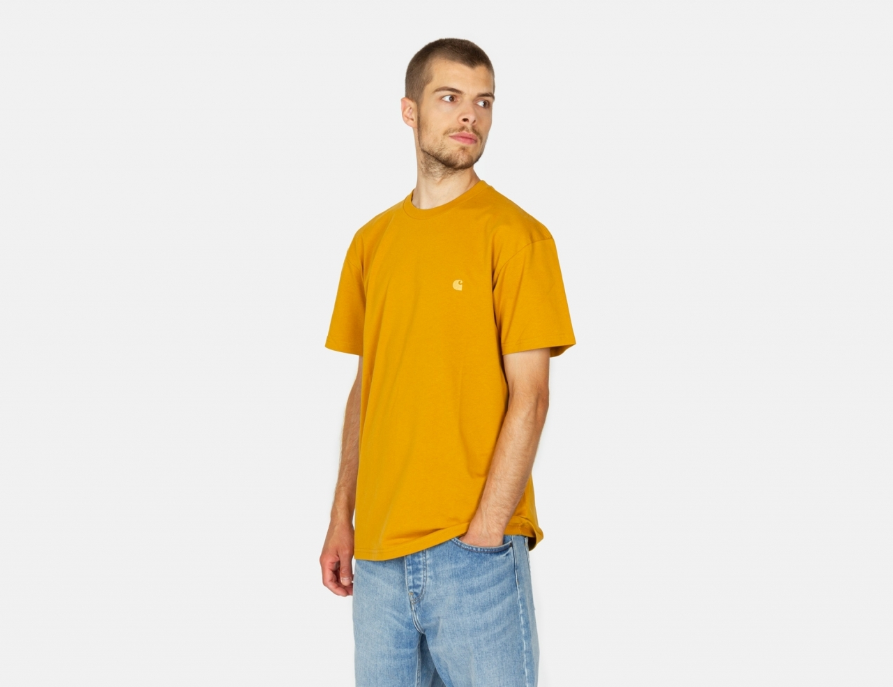 Carhartt WIP Chase T-Shirt - Helios / Gold