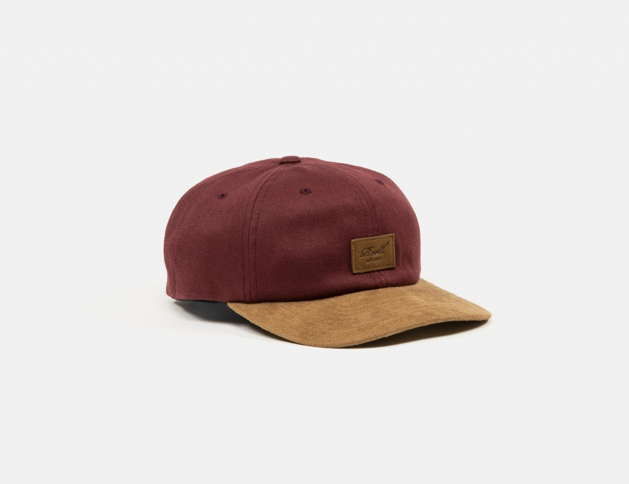 Reell Jeans Curved Suede Dad Cap - Maroon