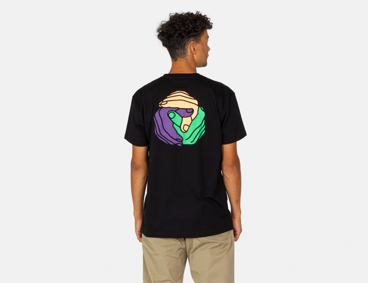 Cleptomanicx Together Colors T-Shirt - Black