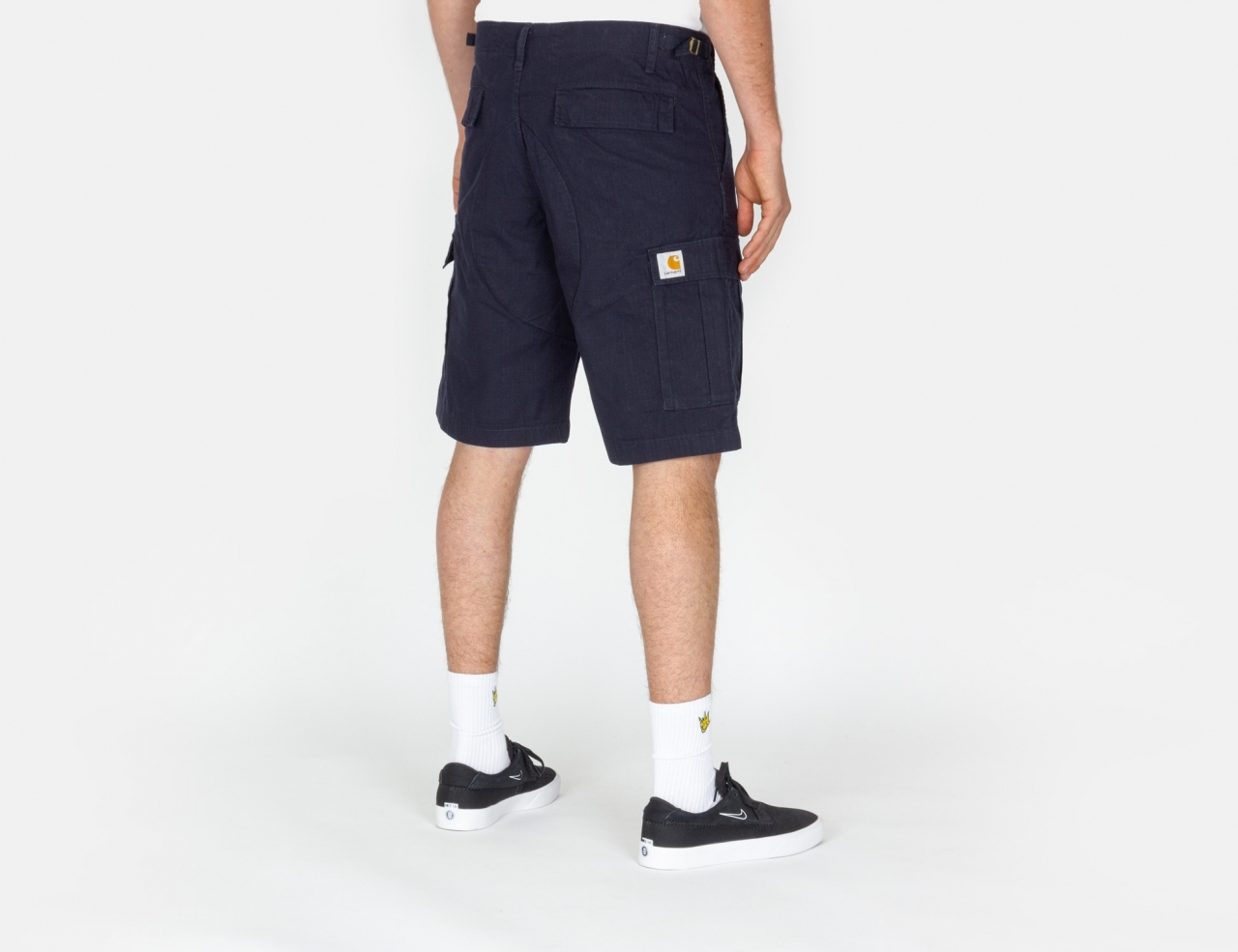 Carhartt WIP Aviation Cargo Shorts - Dark Navy rinsed