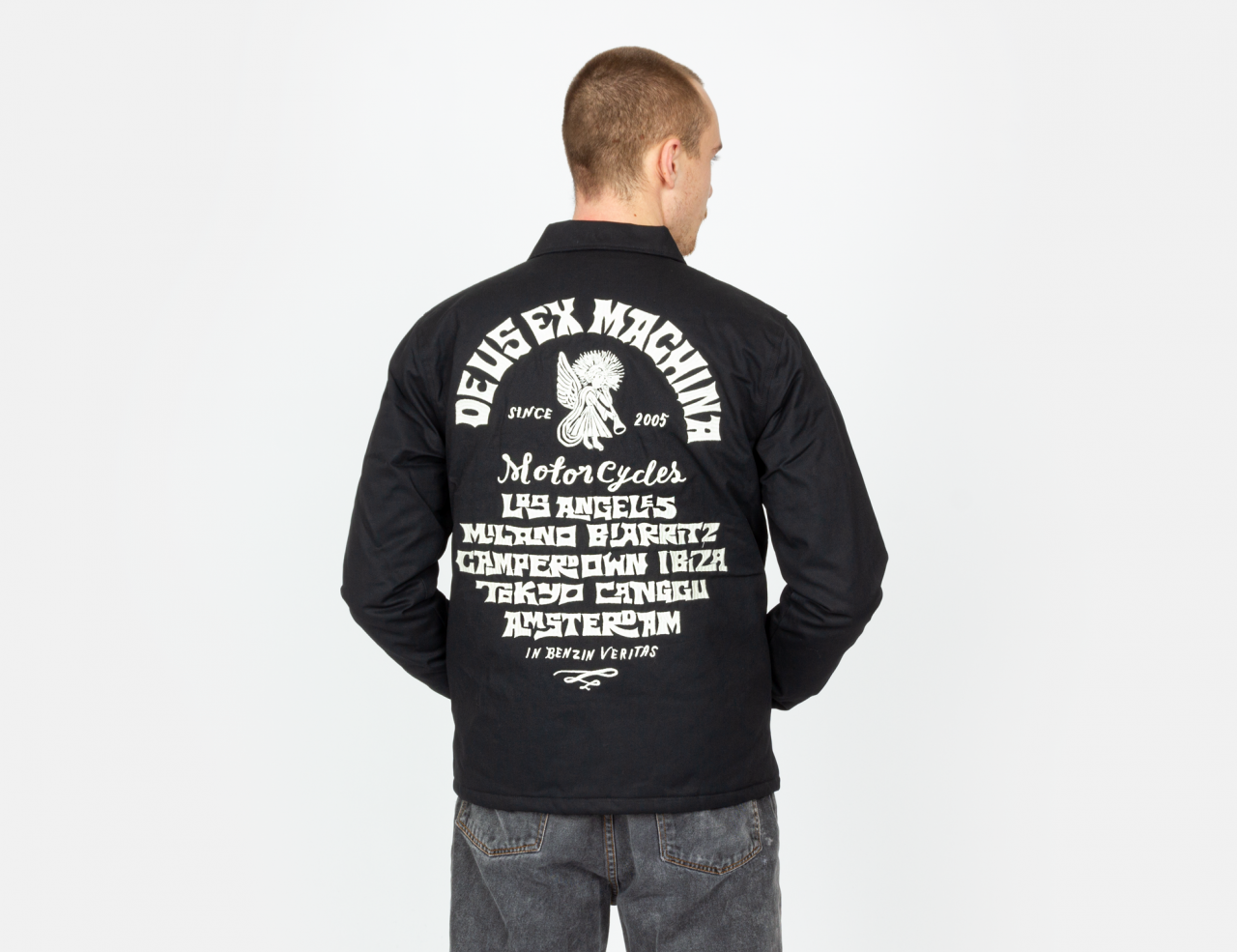 Deus ex Machina Devil Address Coach Jacket - Black